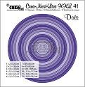 Stansmal - Crealies - Crea-nest-Lies XXL - 41 Cirkels met stippen