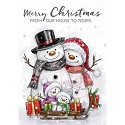 Clearstamp - Wild Rose Studio - Snowman Family