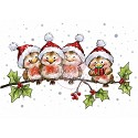 Clearstamp - Wild Rose Studio - Robins on Branch
