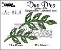 Stansmal - Crealies Duo Dies no. 37A blaadjes 5 spiegelbeeld