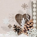 CraftEmotions - Servetten - 5 stuks - Winter Nature