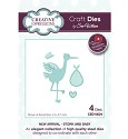 Stansmal - Creative Expressions - The New Arrival Collection - Stork and Baby