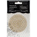 Couture Creations - Premium Adhesive Pearls 3mm / 206 stuks - Glamorous Gold