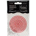 Couture Creations - Premium Adhesive Pearls 3mm / 206 stuks - Radiant Red