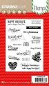 Clearstamp Studio Light - Basic Stamps - nr 156 Kerst Teksten ENG