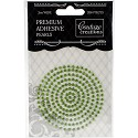 Couture Creations - Premium Adhesive Pearls 3mm / 206 stuks - Emerald Green