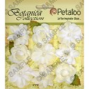 Petaloo - Textured Elements Mixed Mini Blossoms 9/Pkg - Ivory