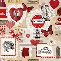 CraftEmotions - Servetten - 5 stuks - Love ticket