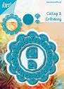 Noor! Design - Blauwe mal - Bloemencirkel & Hexagon