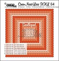 Stansmal - Crealies - Crea-nest-Lies XXL - 54 Scalloped Squares