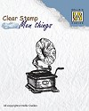 Nellie Snellen - Clearstamp Men Things - Gramophone
