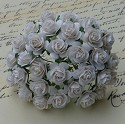 WOC Flowers - White Mullberry Paper Roses - 10mm