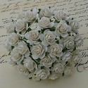 WOC Flowers - Ivory Mullberry Paper Roses - 15mm