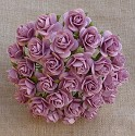 WOC Flowers - Rose Pink Mullberry Paper Roses - 10mm