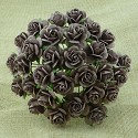 WOC Flowers - Walnut Mullberry Paper Roses - 15mm