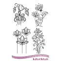 Rubberstamp - Katzelkraft - Fleurs doodle