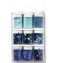 Hobby Crafting Fun - Glitter Set - Blue Assorted