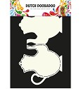 Dutch Doobadoo - Dutch Card Art - Teapot