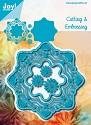 Noor! Design - Blauwe mal - Fantastic Cirkel + bloemen
