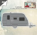 Joy! Crafts - Cutting & Embossing stencil - 3D Caravan