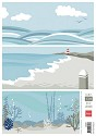 PRE-ORDER 10 - (MEI) Marianne Design - Knipvel Eline`s Backgrounds - Ocean