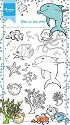 Marianne Design - Clearstamp Hetty`s border - Fish in the reef