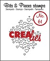 Clearstamp - Crealies - Bits & Pieces - nr 61 Open hartjes