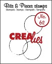 Clearstamp - Crealies - Bits & Pieces - nr 62 Grote cirkels