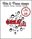 Clearstamp - Crealies - Bits & Pieces - nr 68