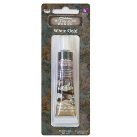Finnabair Art Alchemy - Metallique Wax .68 Fluid Ounce - White Gold
