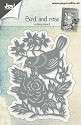 Joy! Crafts - Cutting & Embossingstencil - Vogel met roos