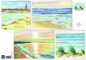 Marianne Design - Knipvel Tiny`s Background: Beach