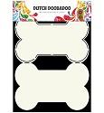Dutch Doobadoo - Dutch Card Art - Dog bone