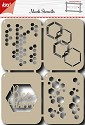 Noor! Design - Scr@p! - Mask Stencil - Bee Happy