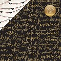 Scrappapier Echo Park - Wedding Bliss - Forever & Always (Gold Foil)