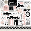 Echo Park - Wedding Bliss - Cardstock Stickers 12
