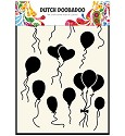 Dutch Doobadoo - Dutch Mask Art - Balloons / Hearts