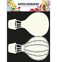 Dutch Doobadoo - Dutch Card Art - Air balloon