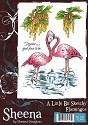A6 Unmounted Rubberstempel - Sheena Douglass - Flamingo