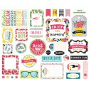 Echo Park - Summer Fun - Ephemera Cardstock Die Cuts Icons