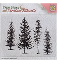 Clearstamp Nellie Snellen - Christmas Silhouette - Pine trees