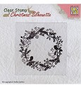 Clearstamp Nellie Snellen - Christmas Silhouette - Wreath