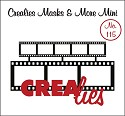 Crealies - Mask & More Mini - 115 Filmstrip