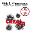 Clearstamp Crealies - Bits & Pieces - No 80 Extra Grunge 4x