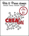 Clearstamp Crealies - Bits & Pieces - No 81 Open stars