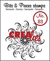 Clearstamp Crealies - Bits & Pieces - No 83 Circle of Swirls D