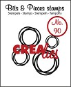 Clearstamp Crealies - Bits & Pieces - No 90 Intertwined Circles