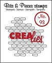 Clearstamp Crealies - Bits & Pieces - No 93 Open Bricks Small