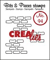 Clearstamp Crealies - Bits & Pieces - No 94 Open Bricks medium