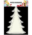 Dutch Doobadoo - Dutch Card Art - A5 Christmas Tree (2st)